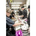 kitchen line with gourmet chef
