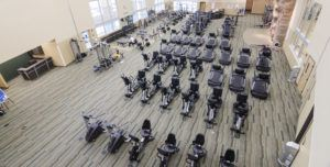 the gym at the new center
