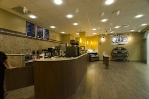 erie island coffee counter