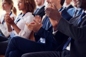 Business seminar attendees