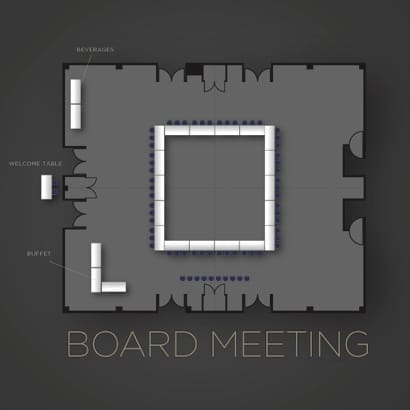 Board Meeting Floor Plan